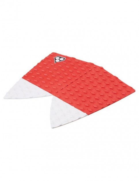 Gorilla Fish Fangs Surfboard Tail pad - Red/White