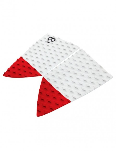 Gorilla Fish Fangs Surfboard Tail pad - White/Red