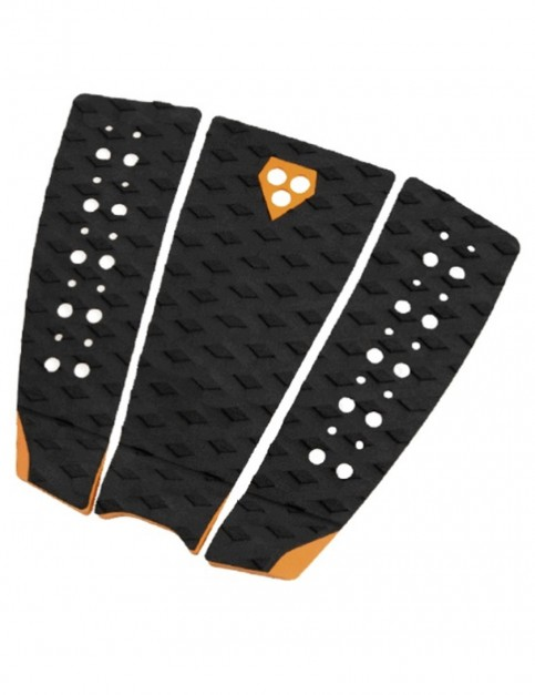 Gorilla Phat Three surfboard tail pad - Black/Tangerine