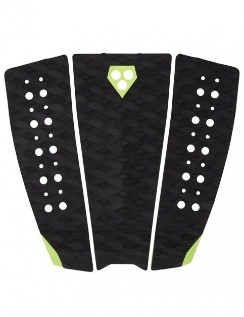 Gorilla Phat Three surfboard tail pad - Black/Acid