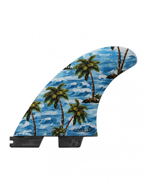 Gorilla X FCS II Sloth Palm/Trend Shank Tri-Quad fins Large - Multi Colour