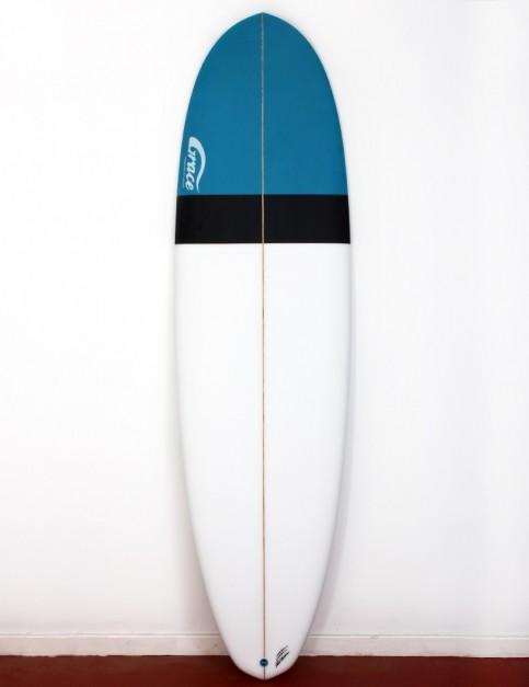 Grace Demibu surfboard 6ft 10 Futures - White