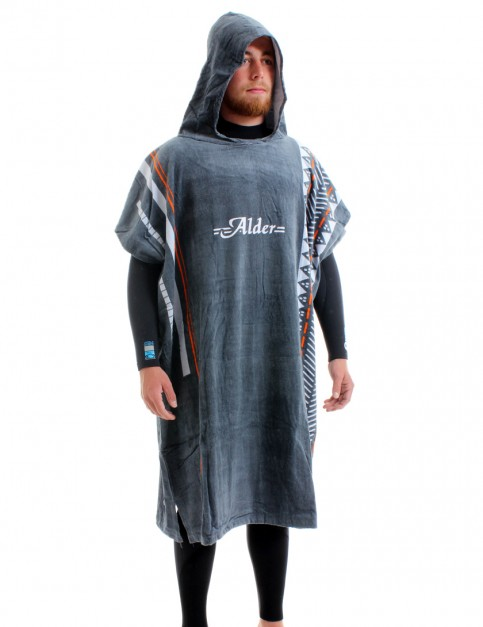 Alder Printed Poncho changing robe - Grey