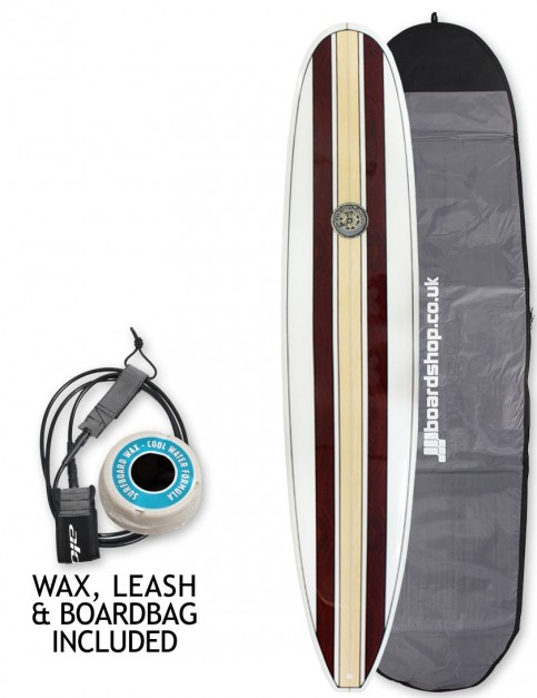 Hawaiian Soul Mal Veneer surfboard package 9ft 0 - Walnut Stripe