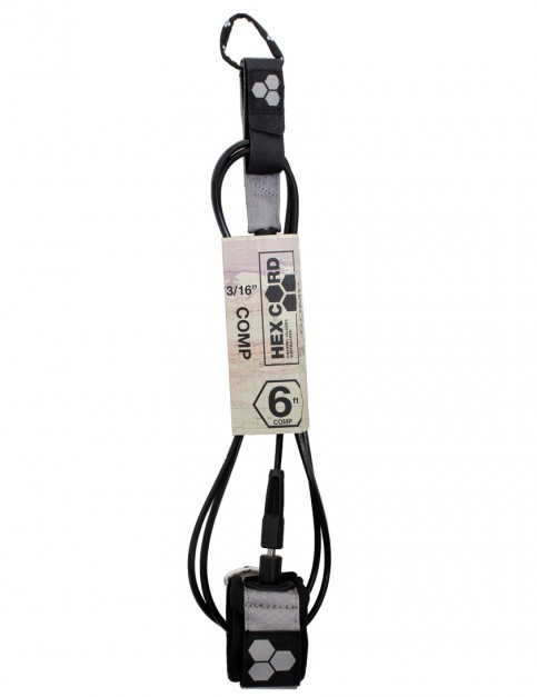 Channel Islands Hex Cord Comp surfboard leash 6ft - Grey