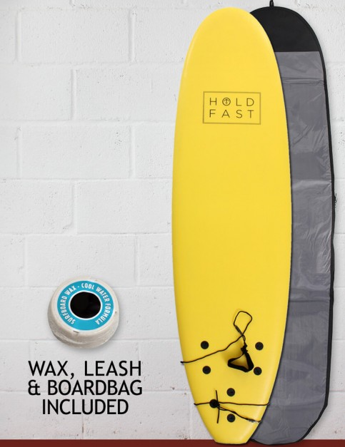 Hold Fast Kids Foam Surfboard Package 6ft 2 - Yellow