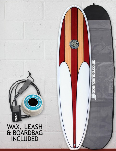 Hawaiian Soul Mini Mal surfboard package 8ft 0 - Cherry