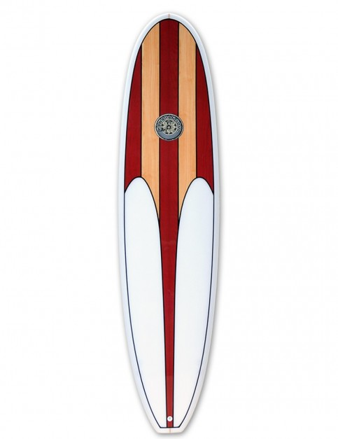 Hawaiian Soul Veneer Mini Mal surfboard 7ft 6 - Cherry