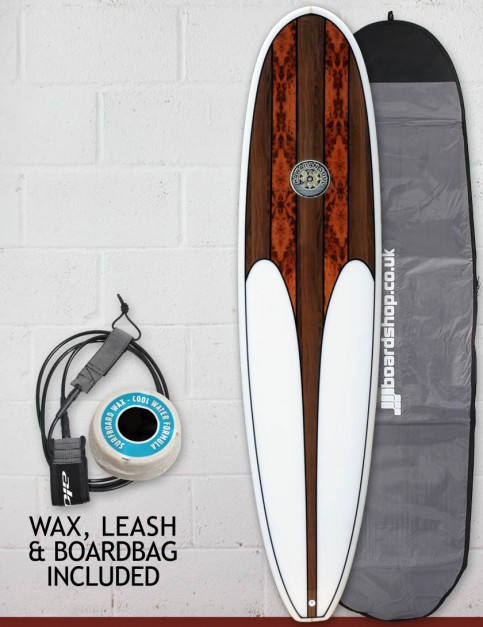 Hawaiian Soul Mini Mal surfboard package 7ft 6 - Walnut