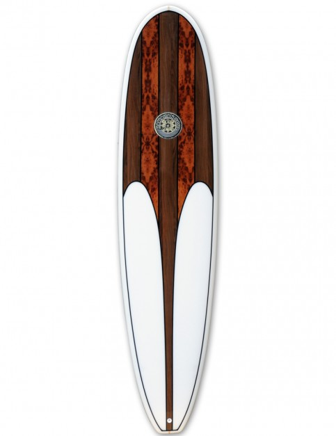 Hawaiian Soul Veneer Mini Mal surfboard 8ft 0 - Walnut