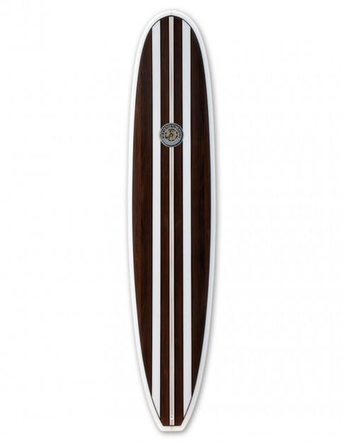 Hawaiian Soul Veneer Mini Mal surfboard 7ft 2 - Mahogany