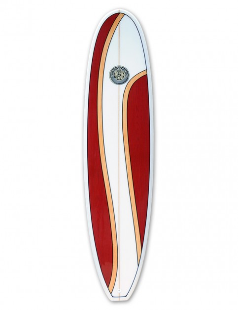 Hawaiian Soul Veneer Mini Mal surfboard 7ft 6 - Cherry Swirl