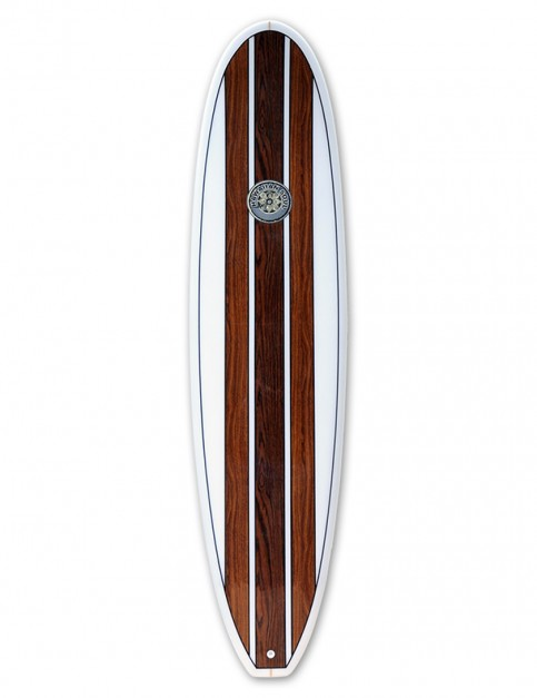 Hawaiian Soul Veneer Mini Mal surfboard 7ft 4 - Teak