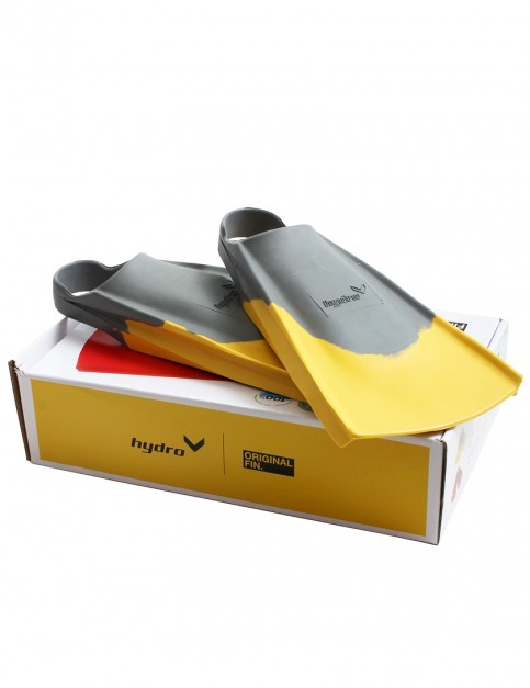 Hydro Original bodyboarding fins - Grey/Yellow