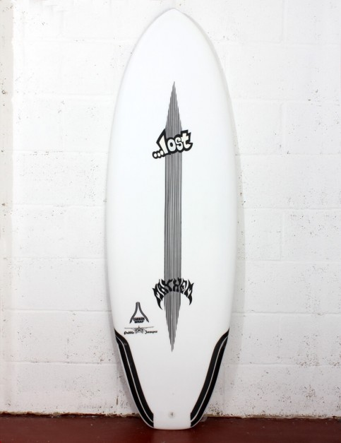Lost Puddle Jumper Surfboard Carbon Wrap 5ft 9 FCS II - White