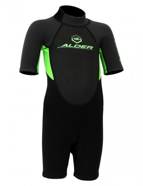 Alder Impact Boys Shorty 3/2mm wetsuit 2017 - Green
