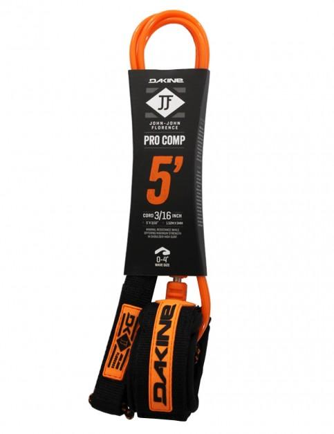 DaKine John John Florence Pro Comp surfboard leash 5ft - Black/Orange