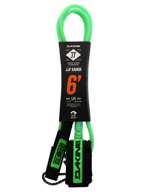 DaKine John John Florence Kainui surfboard leash 6ft - Black/Green