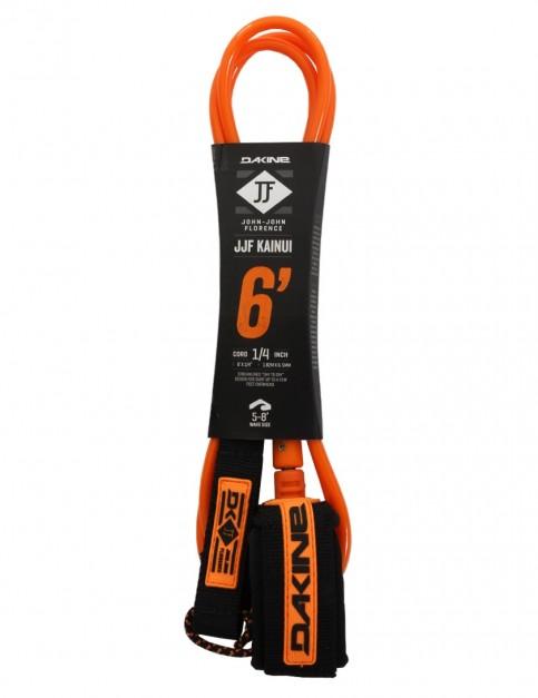 DaKine John John Florence Kainui surfboard leash 6ft - Black/Orange