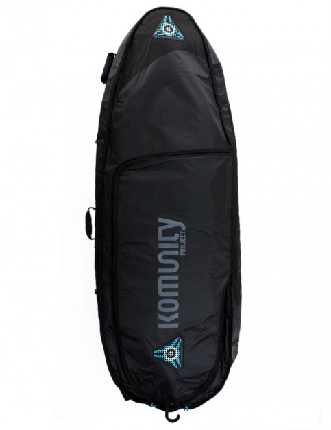 Komunity Project All Rounder Triple Lightweight 10mm Surfboard Bag 6ft 3 - Black