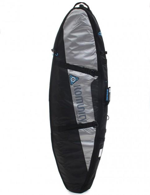 Komunity Project Stormrider Double Lightweight 10mm Traveller 6ft 8 Surfboard bag - Black/Grey