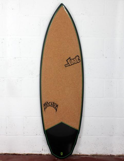 Lost V3 Rocket Surfboard C3 Carbon Cork 5ft 8 FCS II - Green Detail