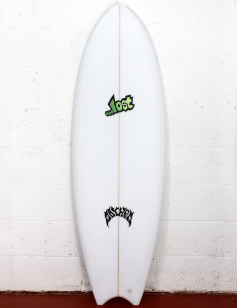 Lost Puddle Fish surfboard 5ft 4 Futures - White