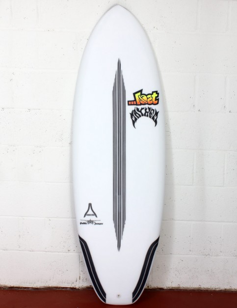 Lost Puddle Jumper Surfboard Carbon Wrap 5ft 8 Futures - White