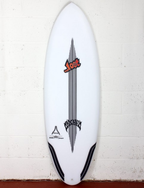 Lost Puddle Jumper RP surfboard Carbon Wrap 5ft 10 Futures - White