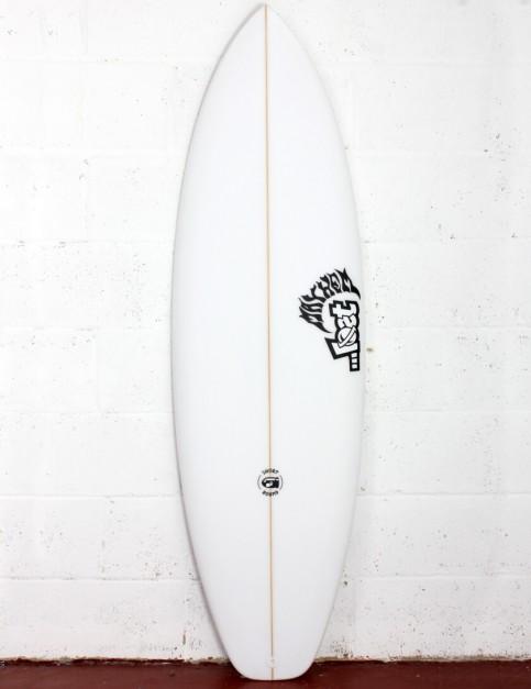 Lost Short Round Surfboard Three Fin 5ft 8 FCS II - White