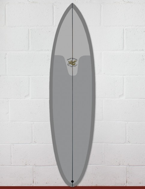 Lost Smooth Operator surfboard 7ft 2  FCS II - Resin Tint Grey