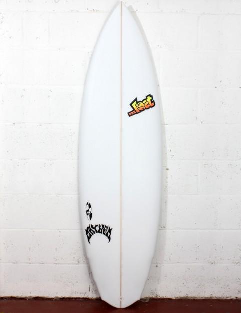Lost V3 Rocket Surfboard 5ft 8 Futures - White