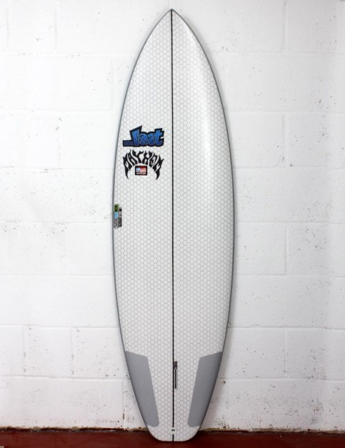 Lib Tech X Lost Short Round surfboard 5ft 10 - White