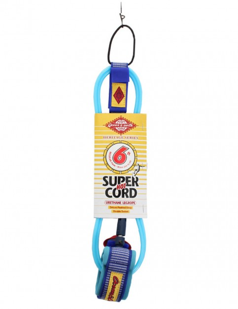 Ocean & Earth Heritage Series Regular Surfboard Leash 6ft - Blue
