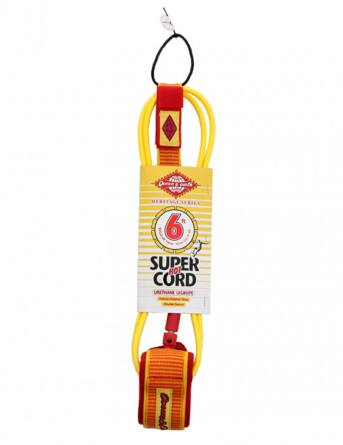 Ocean & Earth Heritage Series Regular Surfboard Leash 6ft - Yellow