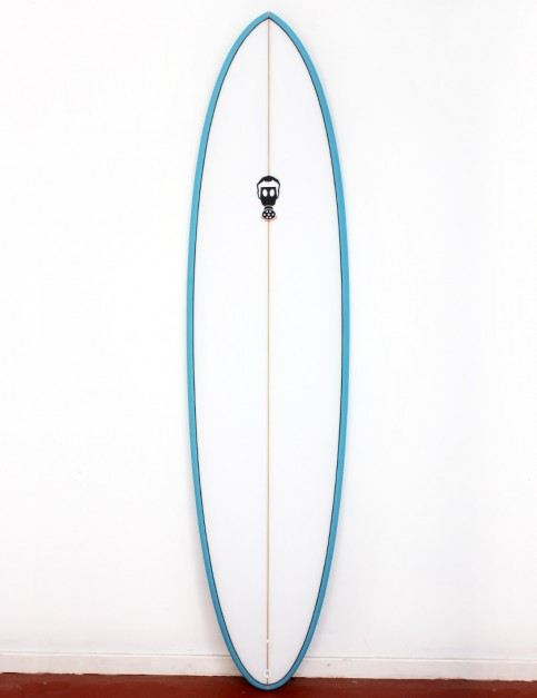 Mark Phipps One Bad Egg surfboard 7ft 2 FCS II - Sky Blue Rail