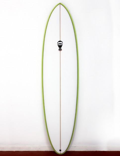 Mark Phipps One Bad Egg surfboard 7ft 0 FCS II - Lime Green Rail