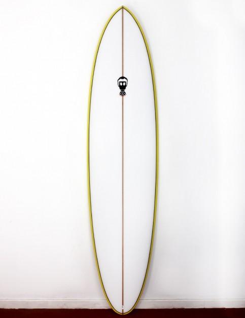 Mark Phipps One Bad Egg surfboard 6ft 4 FCS II - Yellow Rail