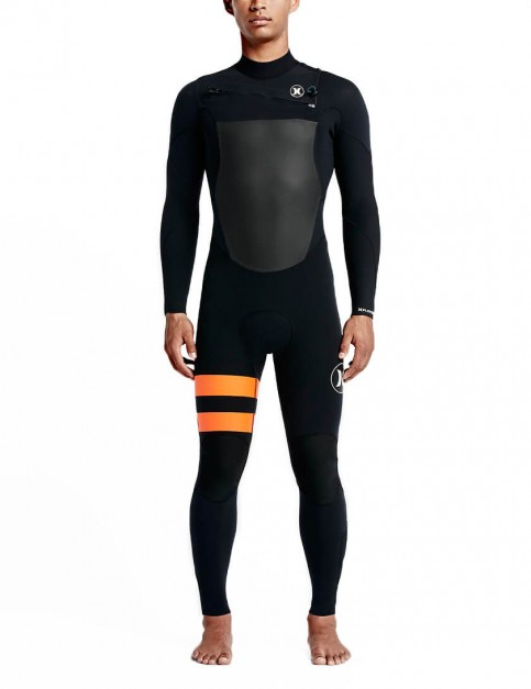 Hurley Fusion Chest Zip 3/2mm Wetsuit 2016 - Black/Orange