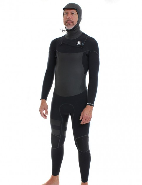 Hurley Phantom 4/3mm Hooded Wetsuit 2016 - Black