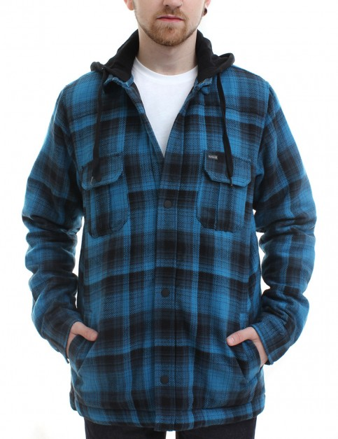 Hurley Emmit flannel shirt - Midnight Teal