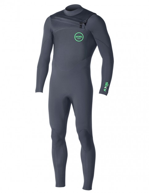 Xcel Axis Comp Chest Zip wetsuit 4/3mm - Graphite