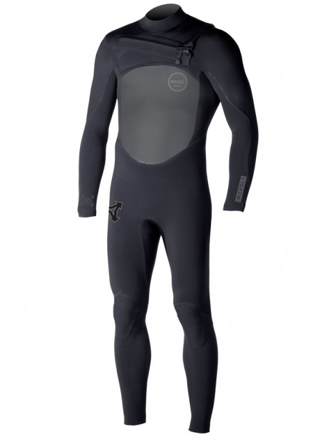 Xcel Revolt Chest Zip 5/4mm Wetsuit 2017 - Black
