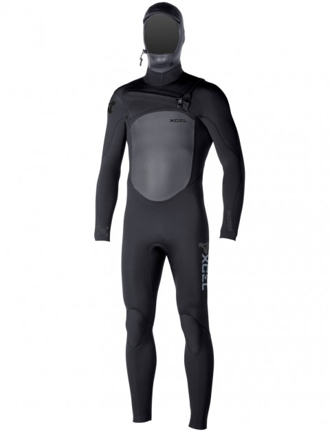 Xcel Infiniti Chest Zip 6/5mm Hooded Wetsuit 2017 - Black