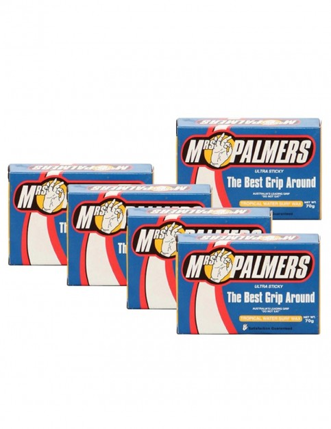 Mrs Palmers Tropical Water Pack 5 Bars of surf wax