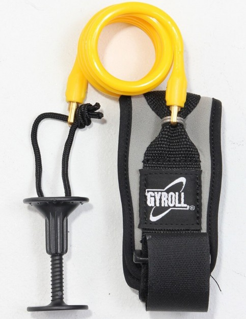 Gyroll Coiled Bicep Bodyboard leash - Yellow