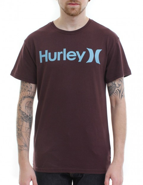 Hurley One and Only Seasonal T Shirt - Mahogany