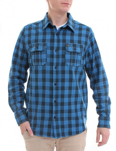 Hurley Westley flannel shirt - Brigade Blue