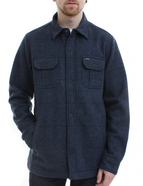 Hurley Brick Button Up fleece lined shirt - Squadron Blue