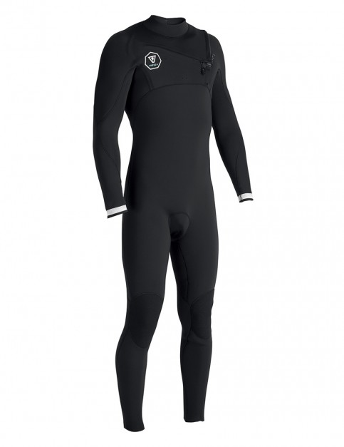 Vissla 7 Seas Chest Zip 4/3mm wetsuit 2017 - Black with White